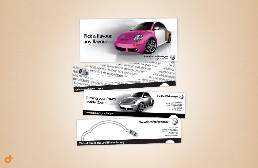 Brantford Volkswagen Promotional Materials Design