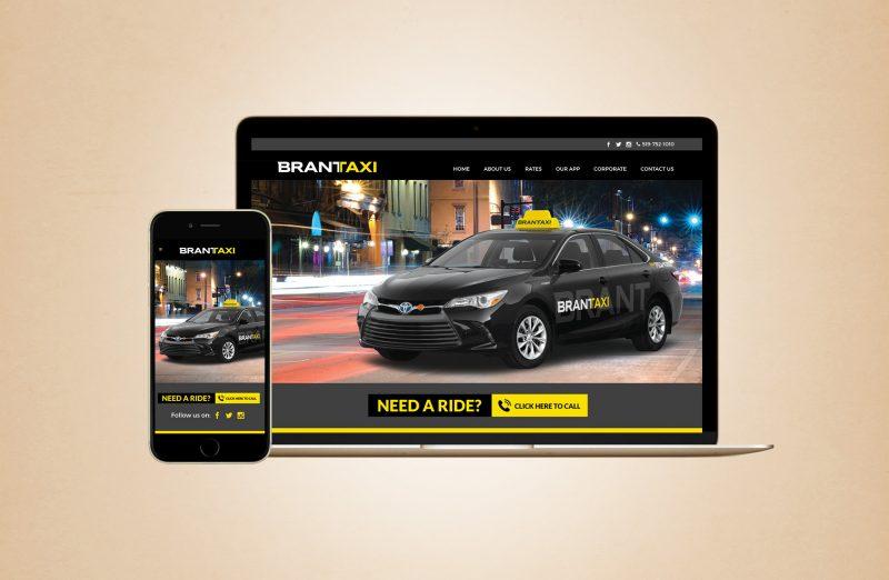 Brant taxi web design
