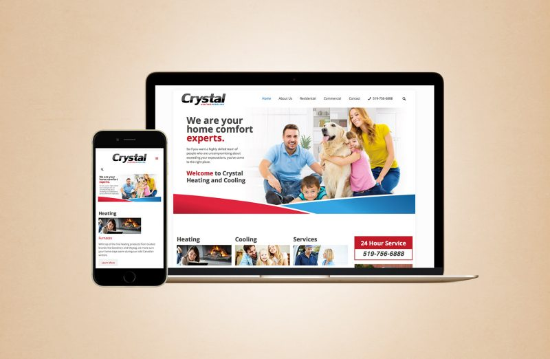 Crystal Heating and Cooling Website Design