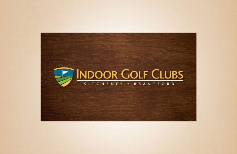 Indoor golf clubs logo design