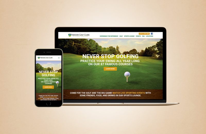 Indoor Golf Clubs web design