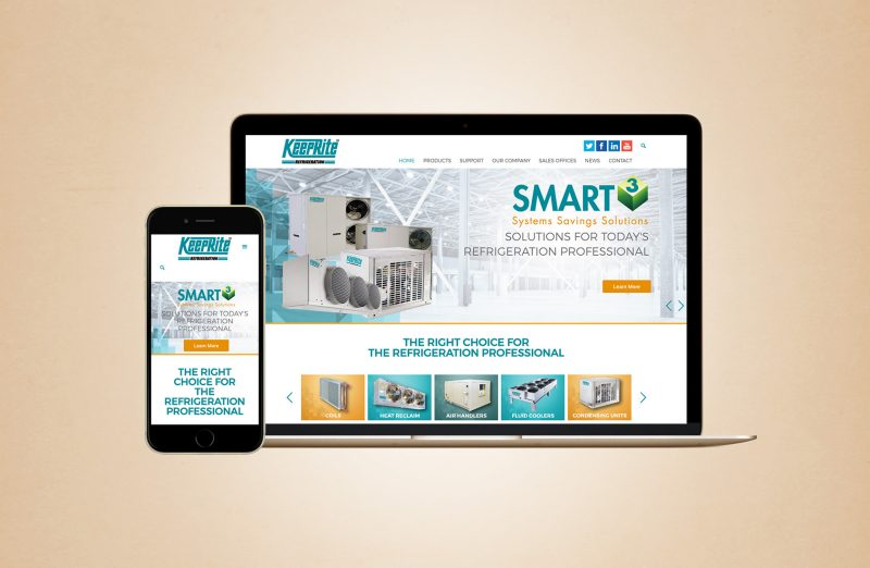 Keeprite refrigeration web design