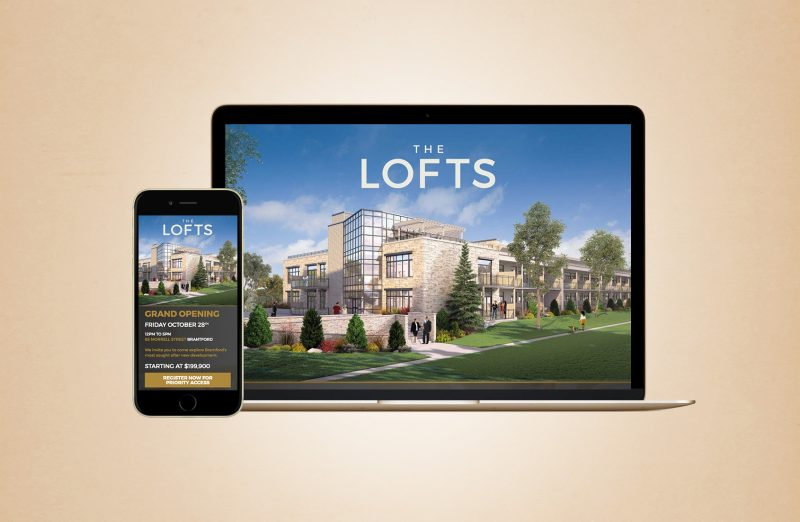 The Lofts web design