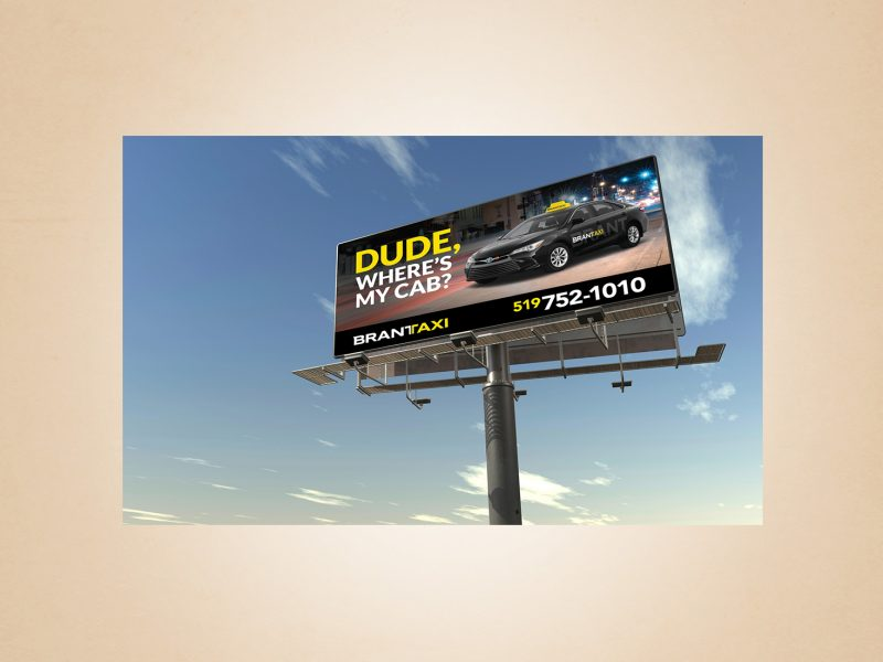 brant taxi billboard design