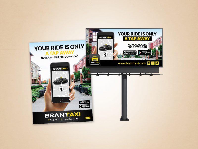 Brant taxi promo material design