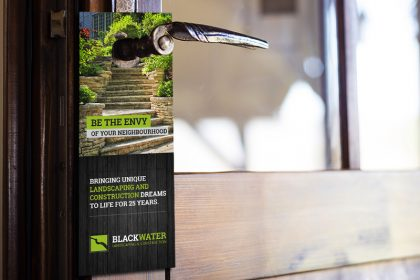 Blackwater Landscaping & Construction Door Hanger