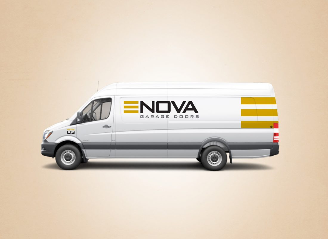 Nova Garage Doors vehicle wrap