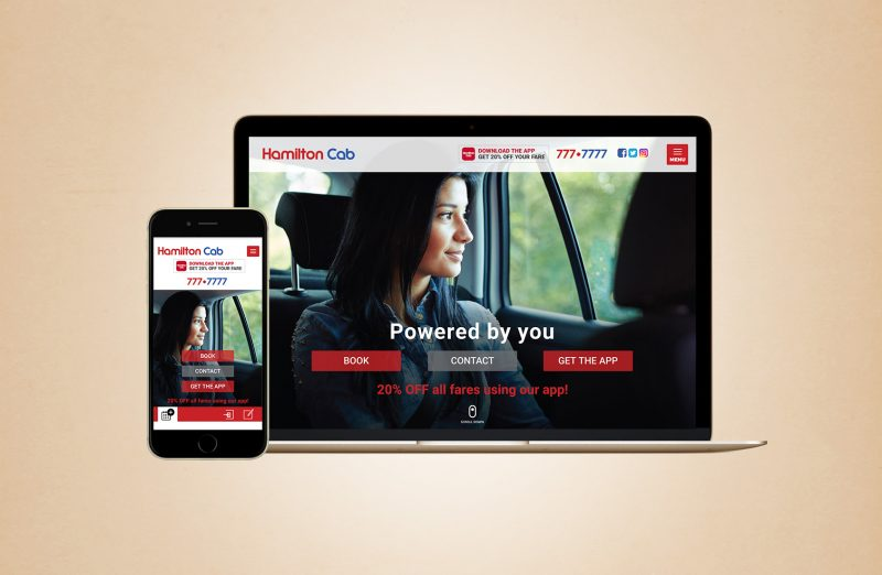 Hamilton Cab web design