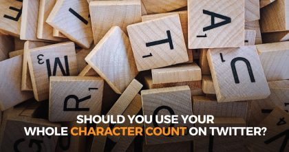 Should You Use Your Whole Character Count on Twitter?