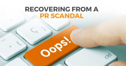 Recover from a PR Scancal